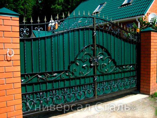 Кованые ворота V-094 — фото