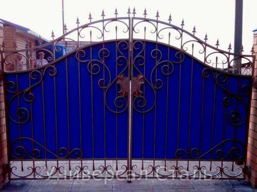 Кованые ворота V-095 — фото