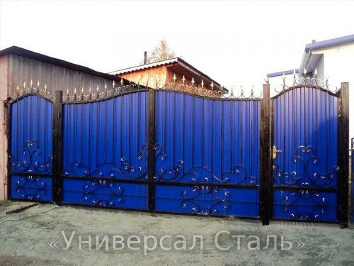 Кованые ворота V-096 — фото