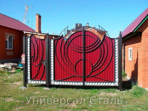 Кованые ворота V-097 — фото
