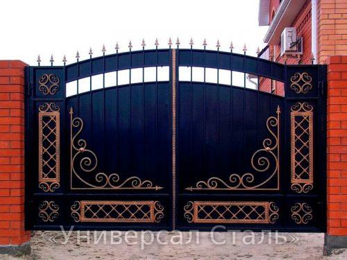 Кованые ворота V-099 — фото