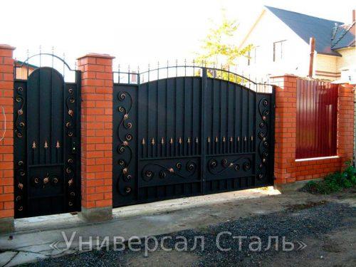 Кованые ворота V-100 — фото