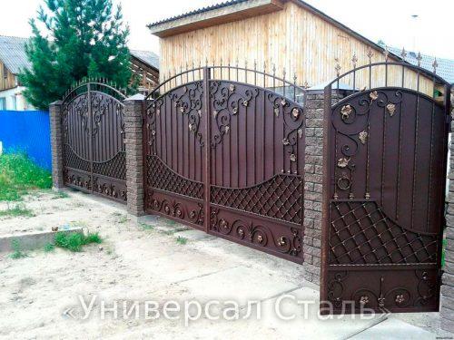 Кованые ворота V-103 — фото