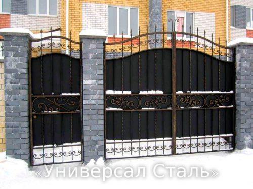 Кованые ворота V-106 — фото