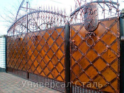 Кованые ворота V-107 — фото
