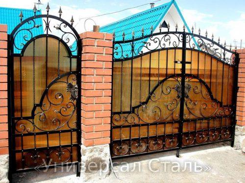 Кованые ворота V-108 — фото