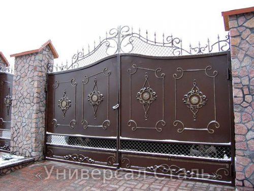 Кованые ворота V-109 — фото