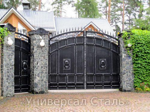 Кованые ворота V-110 — фото
