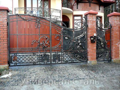 Кованые ворота V-112 — фото