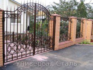 Кованые ворота V-116