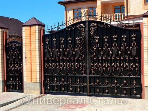 Кованые ворота V-121 — фото