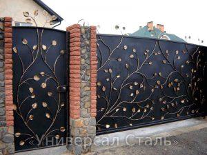 Кованые ворота V-122