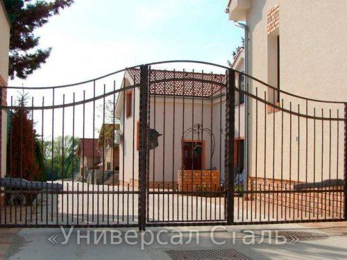 Кованые ворота V-123 — фото