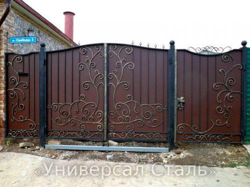 Кованые ворота V-131 — фото