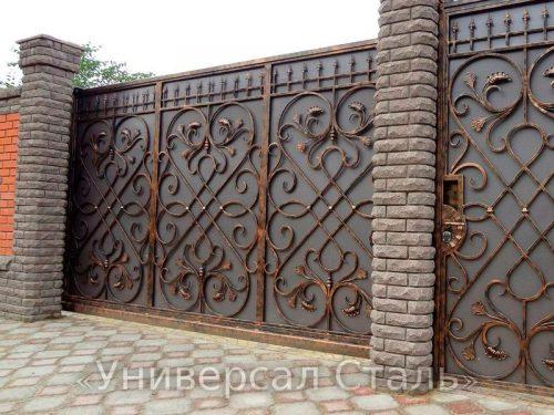 Кованые ворота V-135 — фото