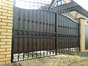 Кованые ворота V-136