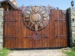 Кованые ворота V-137