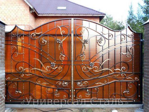 Кованые ворота V-153 — фото