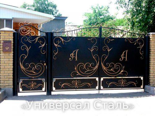 Кованые ворота V-156 — фото