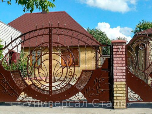 Кованые ворота V-159 — фото