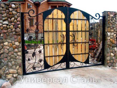 Кованые ворота V-162 — фото