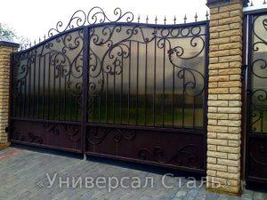 Кованые ворота V-163