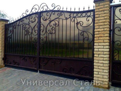 Кованые ворота V-163 — фото
