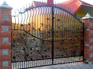 Кованые ворота V-164