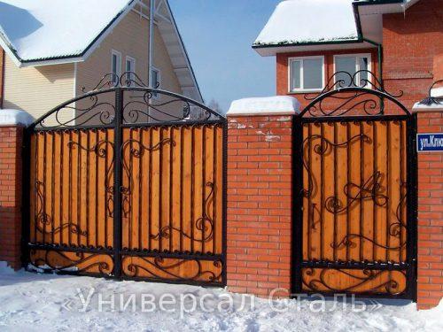 Кованые ворота V-165 — фото