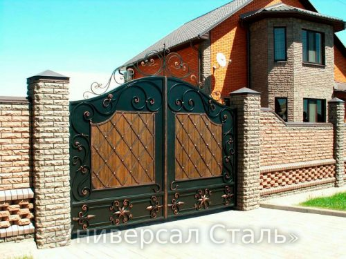 Кованые ворота V-166 — фото