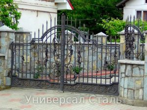 Кованые ворота V-167