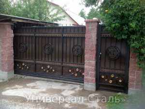 Кованые ворота V-169