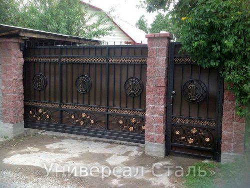Кованые ворота V-169 — фото