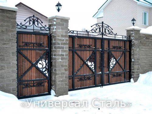 Кованые ворота V-170 — фото