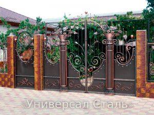Кованые ворота V-171
