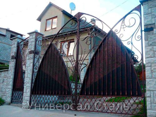 Кованые ворота V-173 — фото