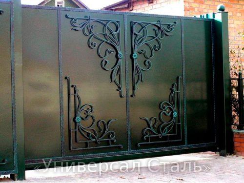 Кованые ворота V-174 — фото