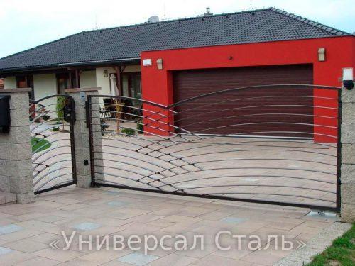 Кованые ворота V-175 — фото