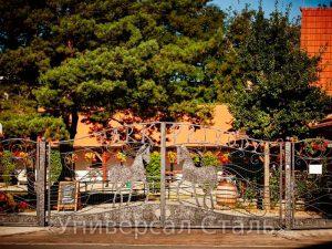 Кованые ворота V-177 - фото 1