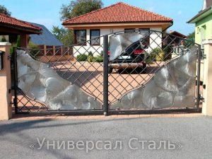 Кованые ворота V-178 - фото 1