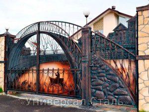 Кованые ворота V-179
