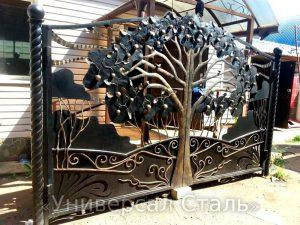 Кованые ворота V-180 - фото 1