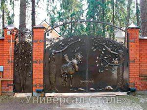 Кованые ворота V-182