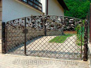 Кованые ворота V-183 - фото 1