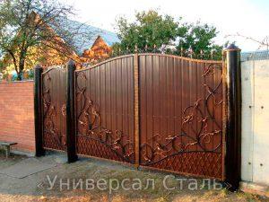 Кованые ворота V-185 - фото 1