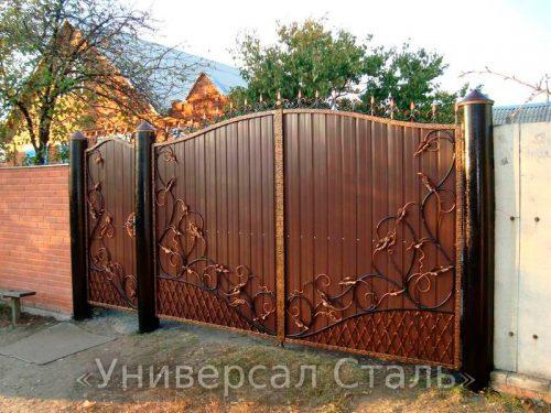 Кованые ворота V-185 — фото
