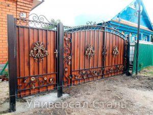 Кованые ворота V-186 - фото 1