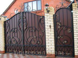 Кованые ворота V-187