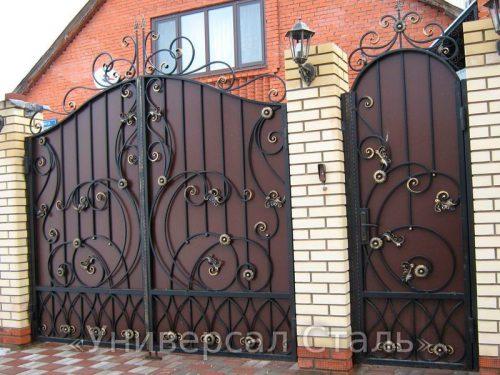 Кованые ворота V-187 — фото