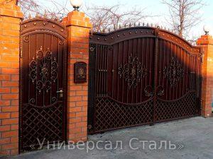 Кованые ворота V-188 - фото 1